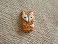 Polymer Clay Sleeping Fox Sleeping Fox by MyLittleLovelyThings