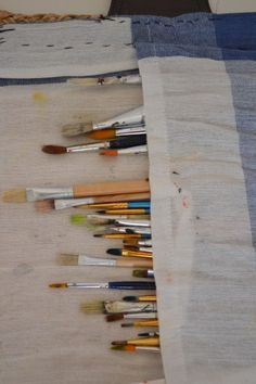Künstler-Accessoire Nr.1 – KREA[tiv*kul]TUR DIY Pinselrolle fürs Malen Accessories, Brushes, Draw, Creative