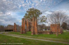 ruins of St John's Church, Glen Allan, MS