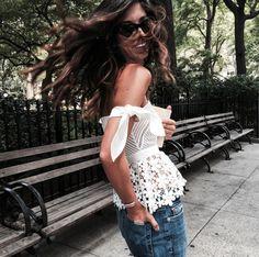 @krystal_bick strolls Central Park in Hudson's Sammi Wideleg Crop in Stingray