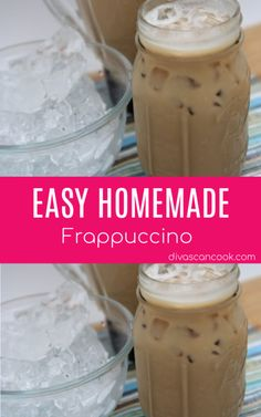Homemade Frappuccino Recipe - The BEST Iced Coffee! - - This homemade frappuccino recipe is one of the easiest, creamiest iced coffee's I've ever tasted! Use flavored coffee like caramel,mocha, and chocolate. Homemade Iced Coffee, Best Iced Coffee, Iced Coffee At Home, Homemade Frappuccino, Iced Coffee Drinks, Coffee Drink Recipes, Starbucks Recipes, Coffee Tasting, Coffee Coffee