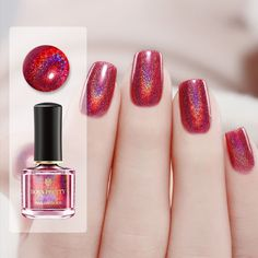 😝💥💞weekend is coming, dear, here shared with you our new arrival holographic series, soooo shiny and beautiful color, wanna try? Born Pretty Nail Polish, Pretty Nails, Weekend Is Coming, G Nails, Born Pretty Store, Holographic Nails, Christmas Nail Art, Nail Pro, Winter Nails