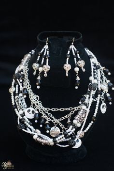 Nightmare Handmade Couture Style Fairytale necklace and earrings by BbeautyDesigns