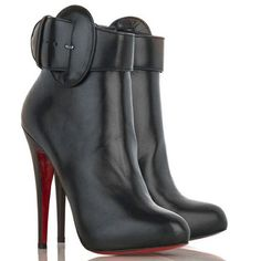 Christian Louboutin Trottinette Leather Ankle Boots Black