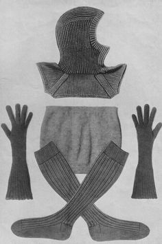 p-dress:  Vogue No8 w2 - Comforts For The Services. From a vintage knitting patternbook for garment for service men world war two, 1940
