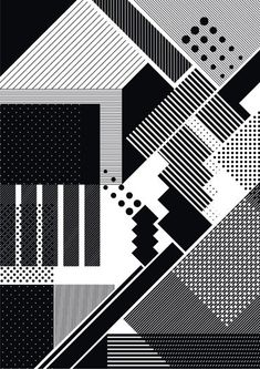 lines plus dots 04 poster by steve buffoni: