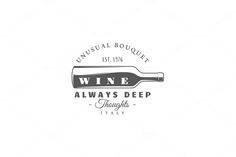9 Wine logos templates Vol.2 by Art Design on @creativemarket