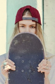 The best selection of new skate board clothing in share now. Skater Look, Skater Girl Style, Skater Girl Outfits, Skater Dresses, Skate Photos, Distressed Baseball Cap, Skate Girl, Skateboard Girl, Skateboard Clothing