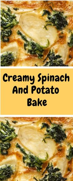 Creamy Spinach And Potato Bake - Spinach Ideen Side Dish Recipes, Vegetable Recipes, Vegetarian Recipes, Dinner Recipes, Cooking Recipes, Healthy Recipes, Side Dishes, Spinach And Potato Recipes, Dinner Ideas