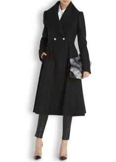 Alexander McQueen flared wool coat worn by Kate for Remembrance Sunday 2014