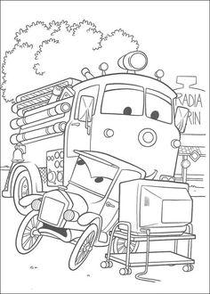 Dibujos para Colorear Cars 61