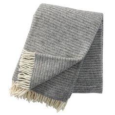Ralph wool throw - light grey - Klippan Yllefabrik
