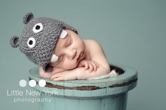 FREE SHIPPING Baby hippo newborn/ baby hat. Perfect baby shower gift or photography prop. $20.00, via Etsy. #pinhonest