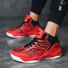Kids Fashion Basketball Shoes Boots Sports Sneakers Air High Top Athletic Breath