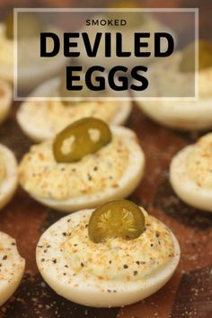 Smoke at 175 for an hour!These Smoked Deviled Eggs take the classic recipe to a new level with smoked eggs, homemade BBQ seasoning, and pickled jalapenos! This might be the best deviled egg recipe ever! Smoked Deviled Eggs Recipe, Best Deviled Egg Recipe Ever, Smoked Eggs, Smoked Jalapeno, Best Deviled Eggs, Smoked Turkey, Jalapeno Poppers, Traeger Recipes, Gourmet