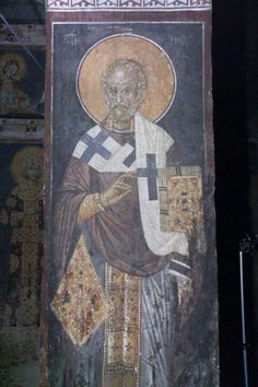Byzantine Icons, Byzantine Art, Church Interior, Old Friends, Fresco, Christianity, Saints, Painting, Interiors