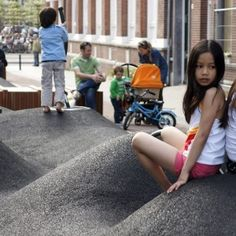 Potgieterstraat by Carve Landscape Architecture, Amsterdam Contemporary Landscape, Landscape Architecture, Around The Worlds, Carving, Playgrounds, Design, Black Rubber, Architects, Amsterdam