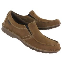 Hush Puppies Men's MONTROSE slip on tan nubuck shoes