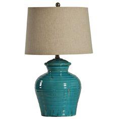 Turquoise Ceramic Jug Table Lamp   Kirklands