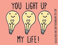 you light up my life pics | You Light Up My Life 8.5 X 11 Illustration Print By Buck And Libby My ...