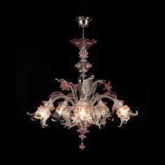 lampadario venini : Venini - lampadario a poliedri disegnato da Carlo Scarpa. Modello a ...