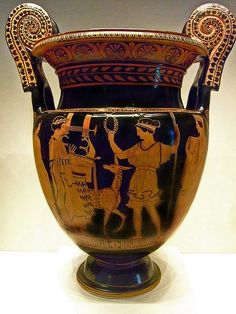 Red-figured volute krater depicting Apollo and Artemis attributed to the Palermo Painter Greek made in Lucania South Italy 415-400 BCE Terracotta (1) by mharrsch, via Flickr