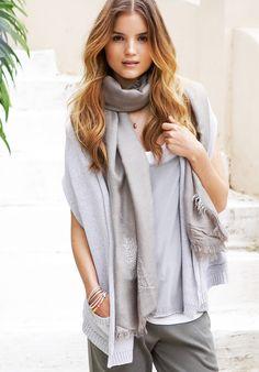 Silver Marl Shawl Collar Shrug, Knitwear, Loungewear | hush | hush-uk.com