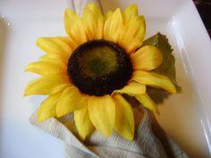 Our Hobby House: Sunflower Napkin Rings