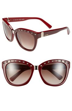 Valentino 'Rockstud' 55mm Studded Sunglasses available at #Nordstrom