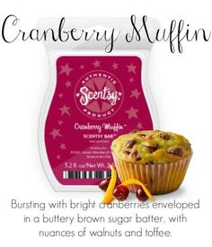 Cranberry Muffin- Bring Back My Bar!  Available July 1st-31st!  www.gonewickless.net