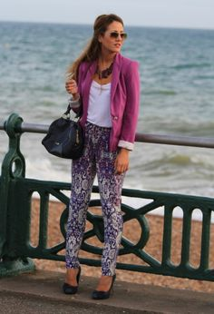 The only way these kind of pants work is with a blazer...everything works better with a blazer