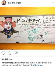 Monday whiteboard prompt: mad