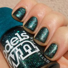 Models Own Absinthe - one coat over dark green polish.
