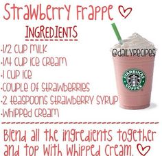 Here Are The Tips On How To Make A Starbucks Strawberry Frappe