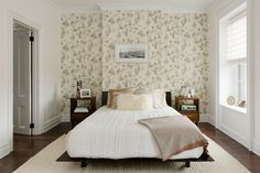 As soon as you turn left, the wallpaper from Anthropologie makes your jaw drop.