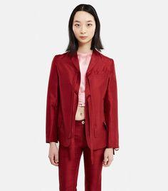 Renli Su Silk Bowknots Jacket