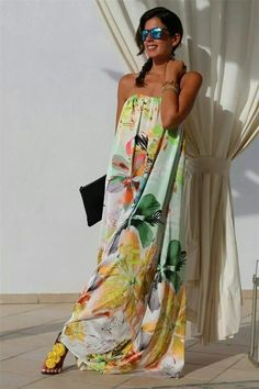 Summer Outfits, Casual Outfits, Fashion Outfits, Summer Dresses, Moda Floral, Love Fashion, Womens Fashion, Fashion Design, Kaftan