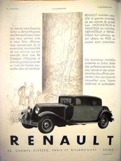 RENAULT vintage advertisement, original art deco ad, French magazine 1930 #bestofEtsy #Etsymntt