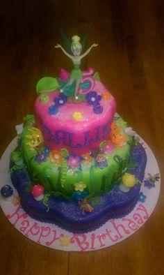 Tinkerbell Birthday Cake  By Peggysue CakesDecorcom