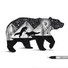 Beautiful Double Exposure Illustrations of Animals – Fubiz Media