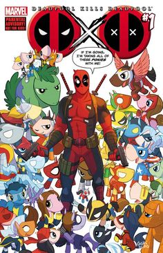 I don't know which makes me a bigger nerd... the fact that I am geeking out over Deadpool plus My Little Ponies, or that I sat here for several minutes trying to figure out what characters all the ponies are supposed to be. I've got all but a couple figured out, and most I knew right away. I'm such a Marvel nerd. :P