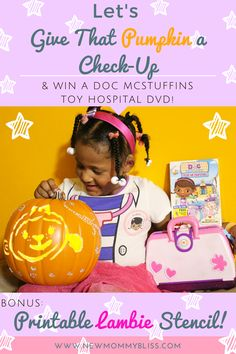 Give That Pumpkin a Check-Up & #Win a Doc McStuffins Toy Hospital DVD! {Ends 10/23} Disney Disney Junior DisneySide @Home doc Mcstuffins DVD Giveaway Halloween