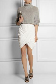 Dion Lee|Wrap-effect plissé-crepe mini skirt|NET-A-PORTER.COM