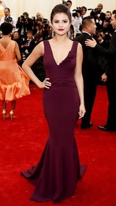 """SELENA GOMEZ in Diane von Furstenberg  attends The Metropolitan Museum of Art's Costume Institute Benefit Gala celebrating """"Charles James: Beyond Fashion"""" in New York on May 5, 2014."""