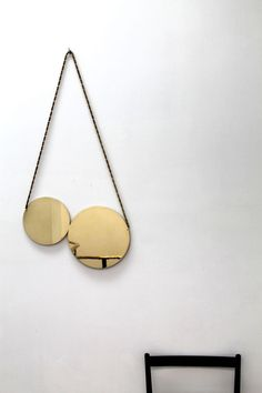 Cherry Mirror - Polished Brass