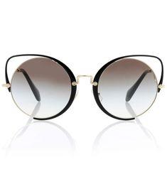 7d0c9f6603c0 Miu Miu Cat-eye sunglasses  luxe  designer  retro Cat Eye Sunglasses