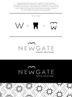 Newgate Dental Logo Design by Rhian Tarling, via Behance