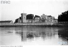 Widok na Pałac Lasockich przy ul.Tynieckiej od strony Wisły.Rok 1928