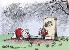 11/22 Mike Luckovich cartoon: Tribute to Larry Munson