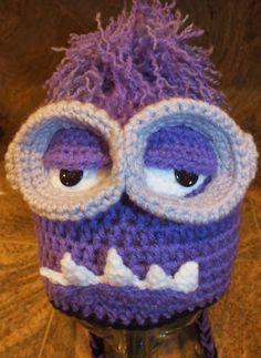 """Crochet Purple Monster Minion Hats  """"Purple Monster Minion Hats"""" My son in law…"""